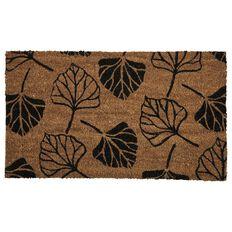 Elemis Mat Coir PVC Backed Bleached Leaves Bleached Black 40cm x 70cm