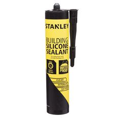 Stanley Building Silicone Sealant Clear 300ml