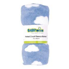 Babywise Printed Coral Fleece Blanket Blue