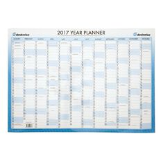Deskwise 2017 Year Wall Planner Laminated A2