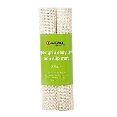Necessities Brand Non Slip Mat  Cream 3 Pack
