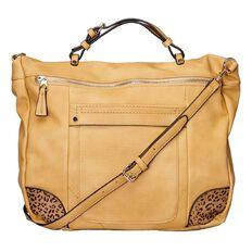 Amber Hill Metro Tote Handbag Beige Limited Edition