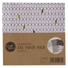 Craftwise Celebration Paper Pack 6in x 6in 36 Sheets
