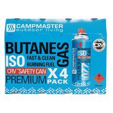 Campmaster Butane Cartridge 4 pack