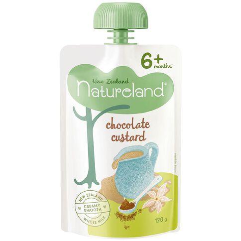 Natureland Chocolate Custard Pouch 120g