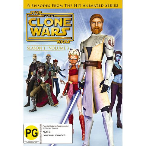 Star Wars The Clone Wars Volume 3 DVD 1Disc