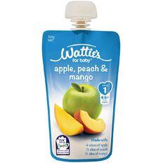 Wattie's Apple Peach and Mango Pouch 120g