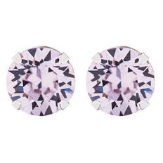 J Lili J Lili Sterling Silver Swarovski Crystals Purple  Earrings 7mm