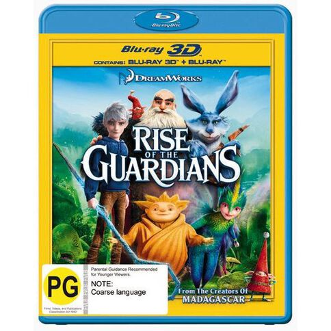 Rise Of The Guardians 3D Blu-ray 2Disc
