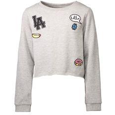 A'nD Crop Badge Sweatshirt