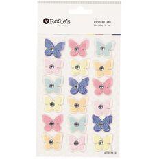 Rosie's Studio Pink Lemonade Butterflies 18 Piece