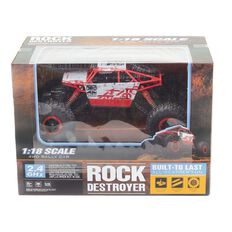 Rock Crawler Remote Control Car  1:18 4 Channel Red/Blue Assorted