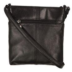 Debut Patch Leather Zip Cross Body Handbag