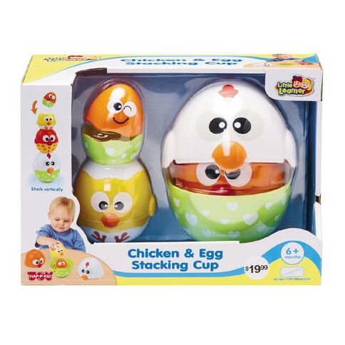 Little Learners Little Learner Chicken and Egg Stacking Cups