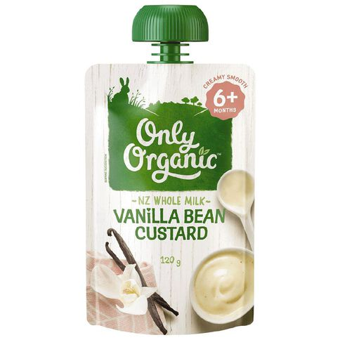 Only Organic Stage 2 Custard Vanilla Bean 120g