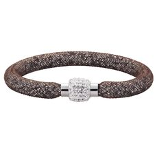 Stainless Steel Brown Crystal Bracelet