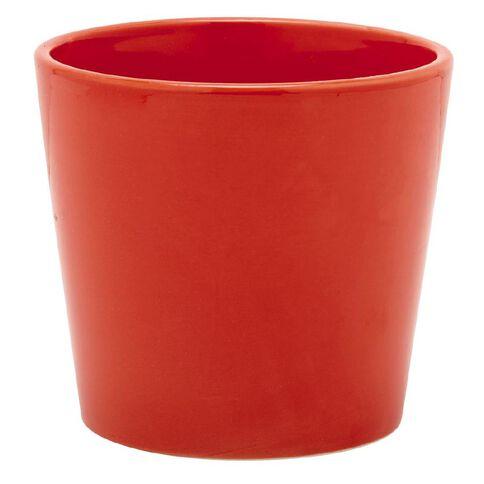 Ceramic Red Vase Houseplant Pot 12cm