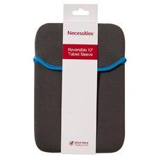 Necessities Brand 10 inch Reversible Tablet Sleeve Grey
