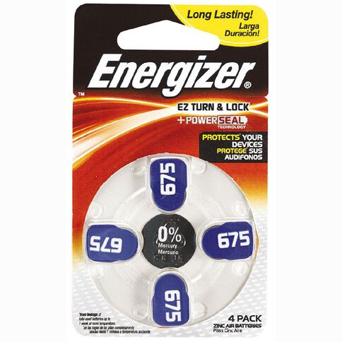 Energizer Hearing Aid Battery AZ675 4 Pack