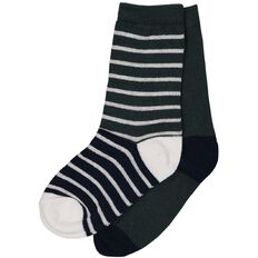 Basics Brand Boys' Crew Socks 2 Pack