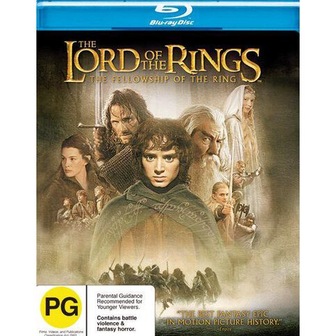 Lord of the Rings The Fellowship of the Ring Blu-ray 1Disc