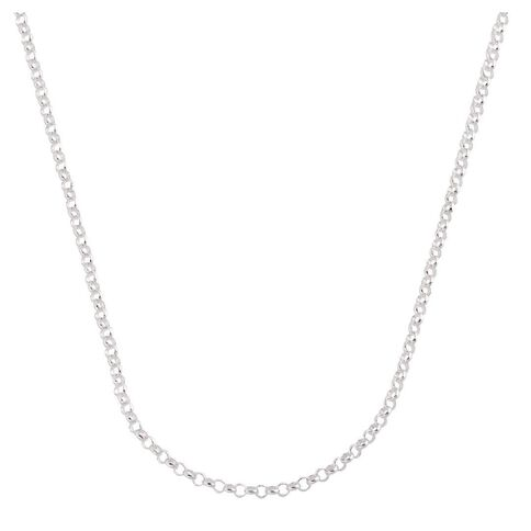 Sterling Silver 50 Gauge Belcher Chain 45cm