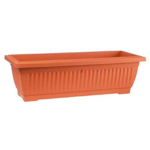 Baba Large Plastic Planter Trough Terracotta 92cm x 34cm