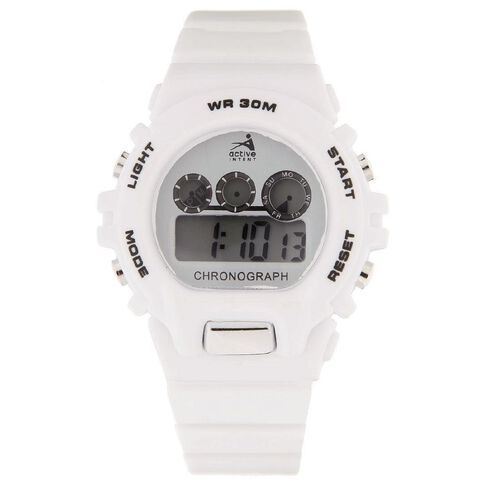 Active Intent Sports Watch White