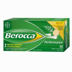 Berocca Performance Effervescent Tablets Mango Orange 30s
