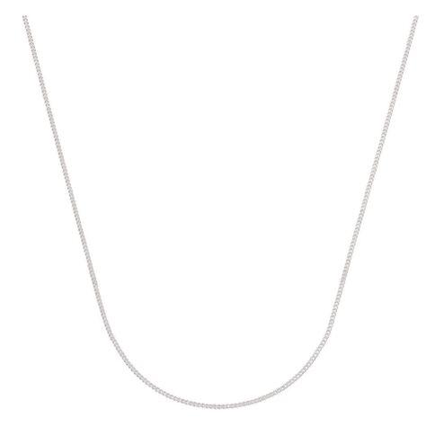 Sterling Silver Diamond Cut 40 Gauge Curb Chain 45cm
