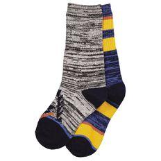 H&H Boys' Ribbed Crew Socks 2 Pack