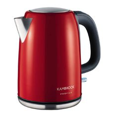 Kambrook Kettle Stainless Steel/ Red 1.7L