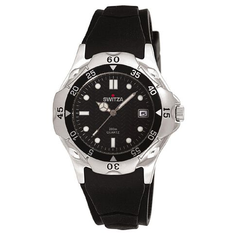 Switza Men's Sports Watch with Black Dial