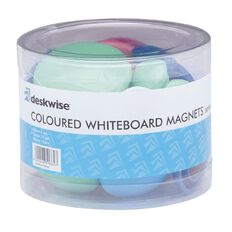 Deskwise Whiteboard Magnets Coloured 30 Piece