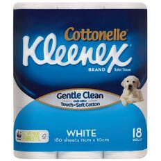 Kleenex Cottonelle White Toilet Tissue 18 Rolls