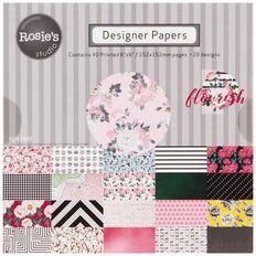 Rosie's Studio Flourish Designer Papers 40 Sheets Pad 6in x 6in