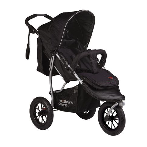 Mother's Choice Ebony 3 Wheel Stroller
