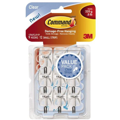 Command Clear Small Wire Hooks with Clear Strips Value Pack