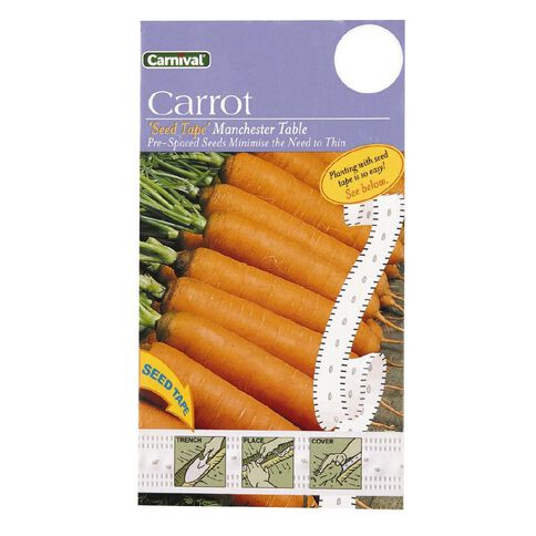 Carnival Seeds Tape Carrot Manchester Table