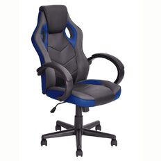 Linton Racer Chair Black/Blue