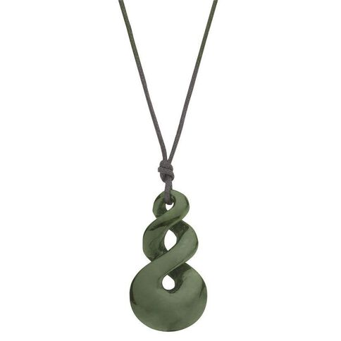 Jade 2 Twist Pendant