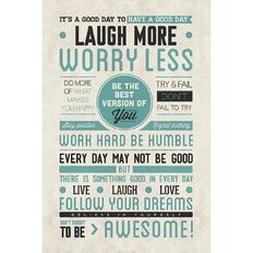 Poster Be Awesome Laugh More