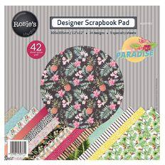 Rosie's Studio Paradise Paper Pad 12in x 12in 42 Sheet
