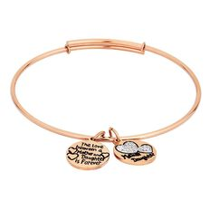 Stainless Steel Rose Gold Plated Mum & Daughter Bracelet