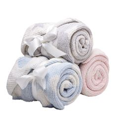 Lullaboo Two Layer Baby Blanket Assorted Colours