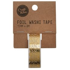 Craftwise Foil Washi Tape Lace 15mm x 8m