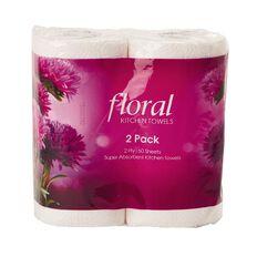 Floral Kitchen Towel 2 Pack x 60 Sheets