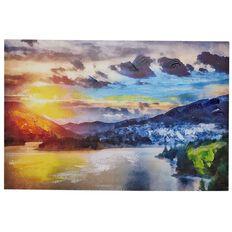 Design House Art Canvas Handpainted Sunrise 90cm x 60cm x 2.5cm