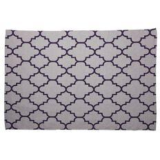 Living & Co Rug Geo Bleached Printed Grey/Purple 120cm x 170cm