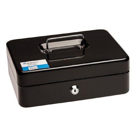 Deskwise Cash Box Black Large 10 inch